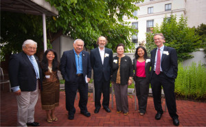 (Congressmen Mike Honda and Eni Faleomavaega with board members at our annual reception in Washington DC.)